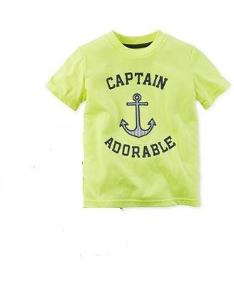 8f1a13b44027 Carter s Toddler Boys . Captain Adorable T-Shirt