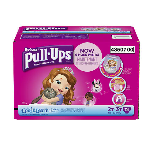 Pull-Ups Cool /& Learn Potty Training Pants for Girls 18-34 lb. 74 C... 2T-3T
