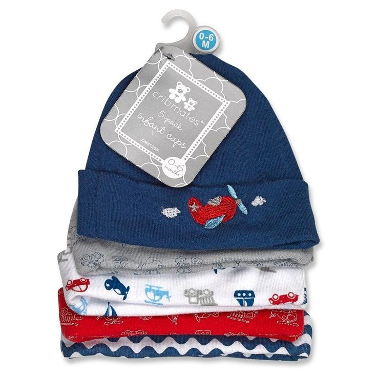 "d3b75737389 Product ID  3786. BABY BOYS  ""GOING PLACES"" 5-PACK INFANT CAPS"