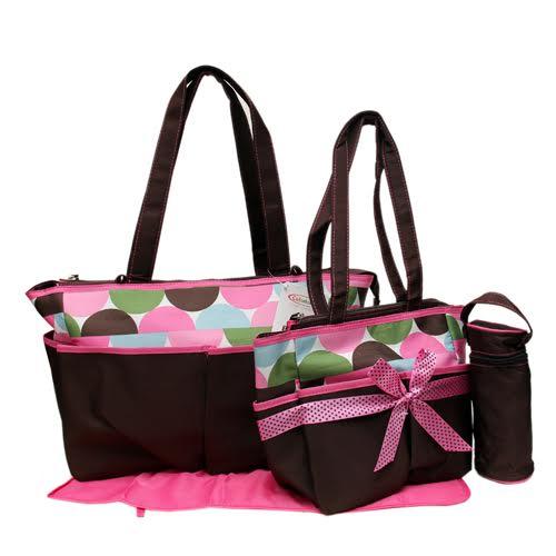 colorland pink diaper bag monmartt. Black Bedroom Furniture Sets. Home Design Ideas