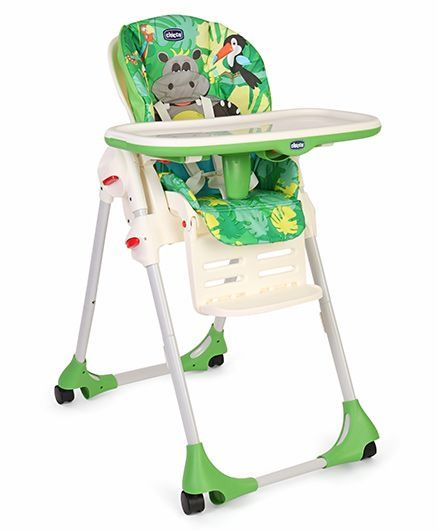 High Chairs And Boosters Chicco Polly Easy Highchair   Happy Jungle  (Multicolor)