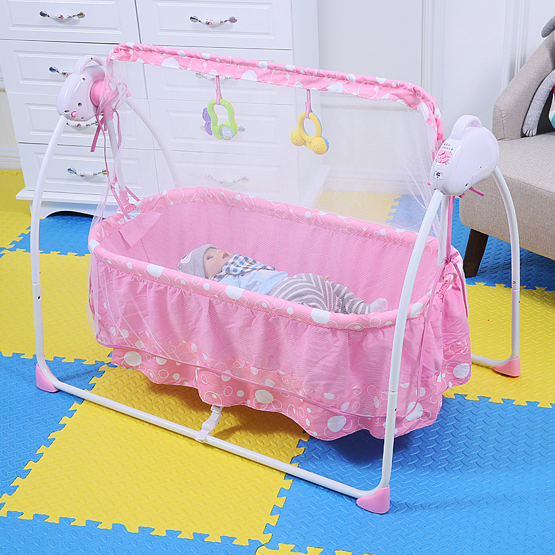 822e322f7 Bouncers , Rockers and Swingers tob 2 in 1 baby swing bed with mosquito net  pink stripe